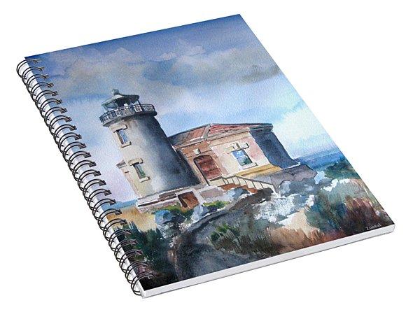 Lighthouse At Bandon Spiral Notebook