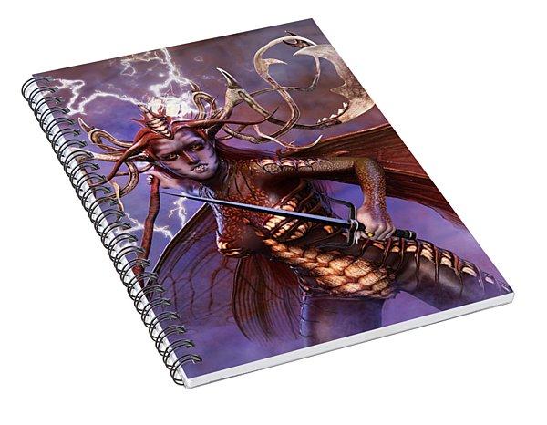 Lightning Strikes Spiral Notebook
