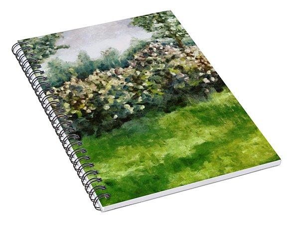 Lilac Bushes In Springtime Spiral Notebook