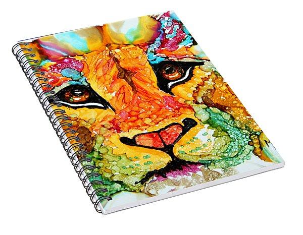 Lion's Head Gold Spiral Notebook