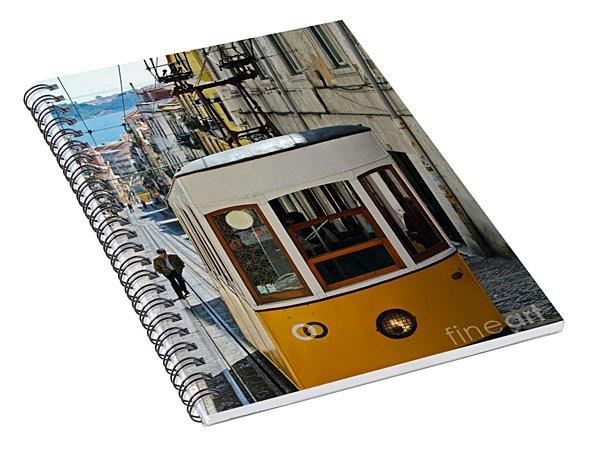 Lisbon - Portugal - Elevador Da Bica Spiral Notebook