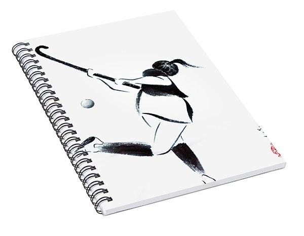 Live, Love, Play Field Hockey Spiral Notebook