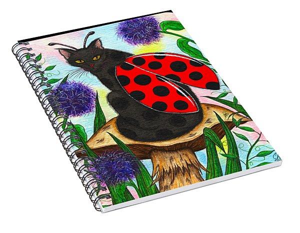 Logan Ladybug Fairy Cat Spiral Notebook