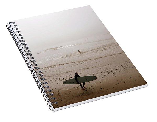Lonely Surfer Spiral Notebook
