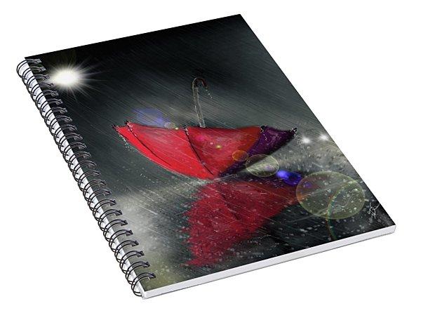 Lonely Umbrella Spiral Notebook