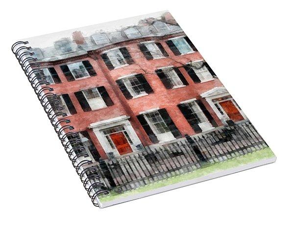 Louisburg Square Beacon Hill Boston Spiral Notebook