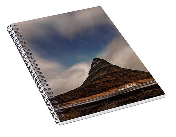 Spiral Notebook featuring the photograph Love In Nature Over Kirkjufell by Pradeep Raja PRINTS