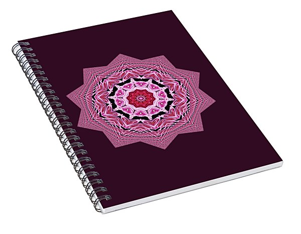 Loving Rose Mandala By Kaye Menner Spiral Notebook