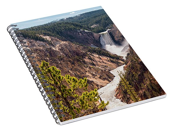 Lower Yellowstone Canyon Falls 5 - Yellowstone National Park Wyoming Spiral Notebook