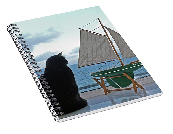 Lucky The Sleepycat Spiral Notebook