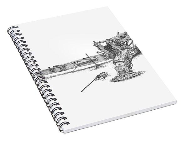 M198 Howitzer - Standard Size Prints Spiral Notebook
