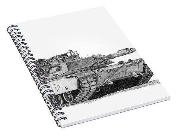 M1a1 B Company Xo Tank Spiral Notebook