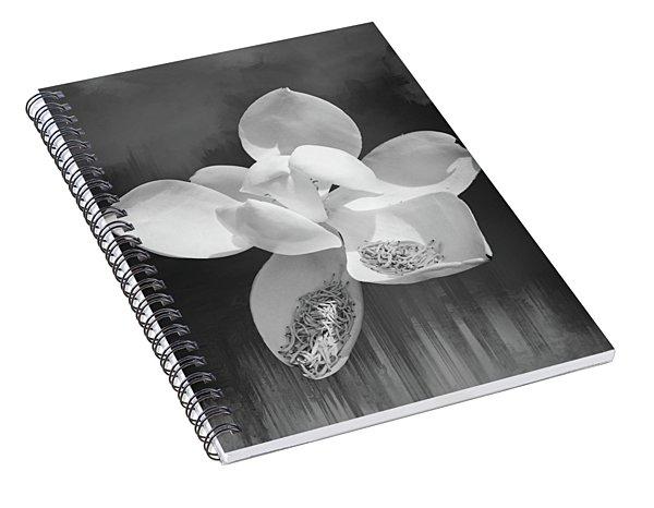Magnolia En Noir Spiral Notebook