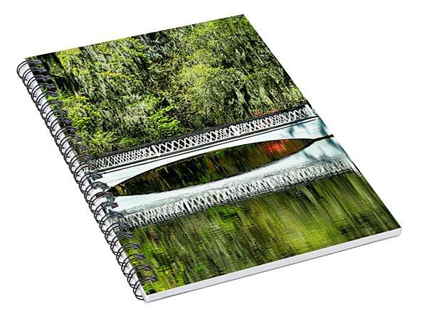 Magnolia Plantation Bridge - Charleston Sc Spiral Notebook