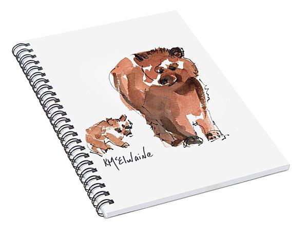 Mama And Baby Series Bear Spiral Notebook