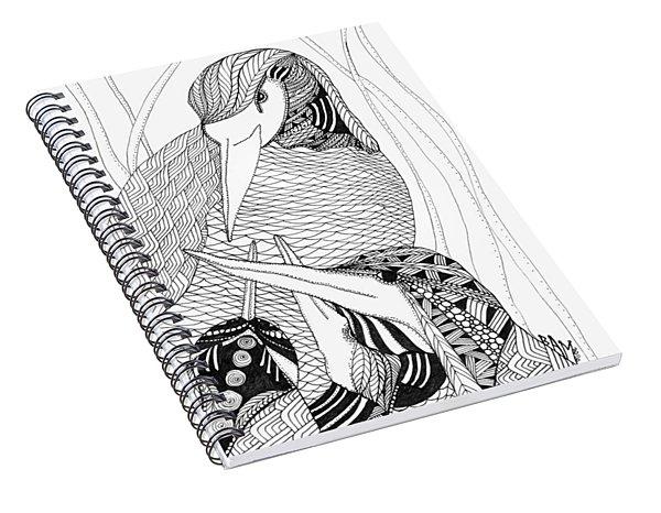 Mama Heron Spiral Notebook