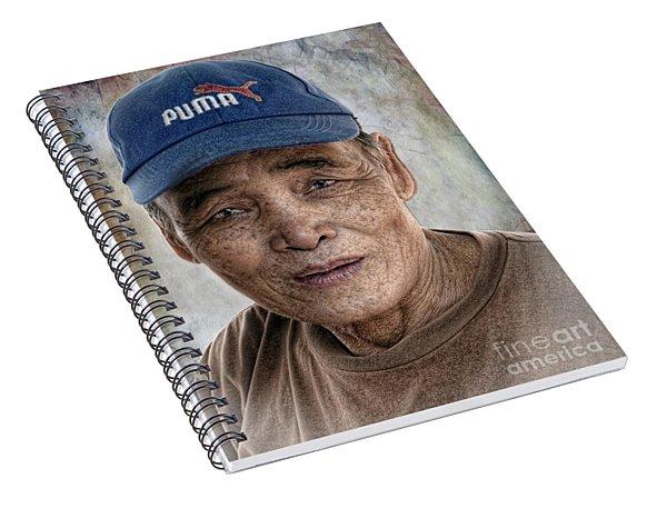 Man In The Cap Spiral Notebook