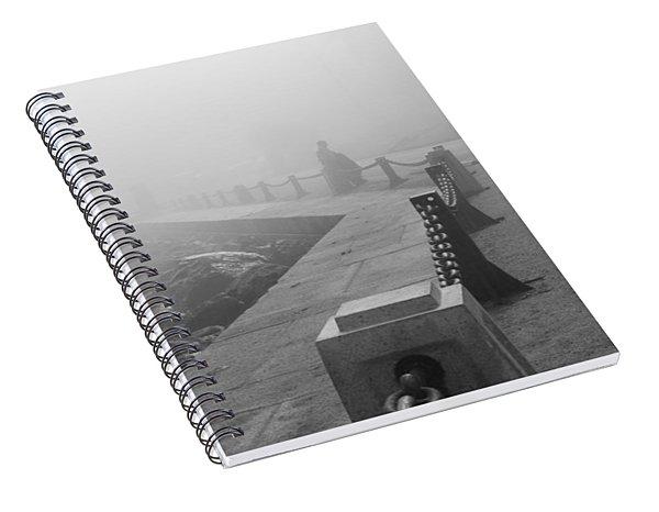 Man Waiting In Fog Spiral Notebook