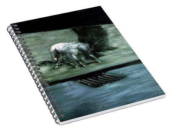 Man With Dog  Spiral Notebook
