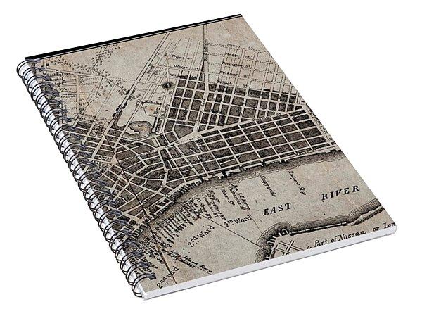 Manhattan 1804 Map Spiral Notebook