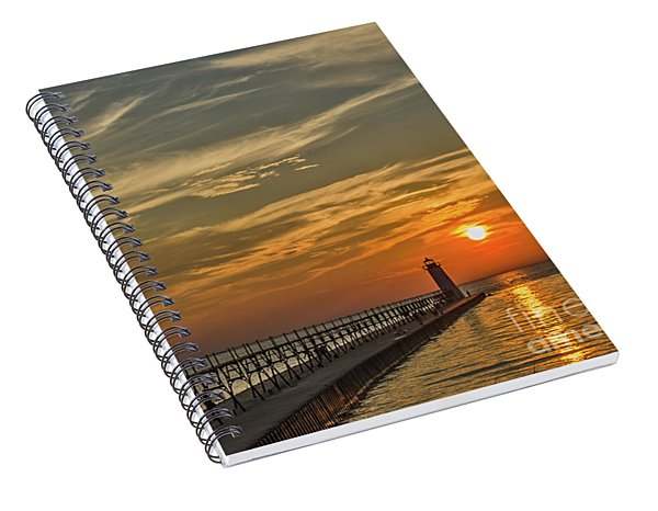 Manistee North Pierhead Lighthouse Spiral Notebook