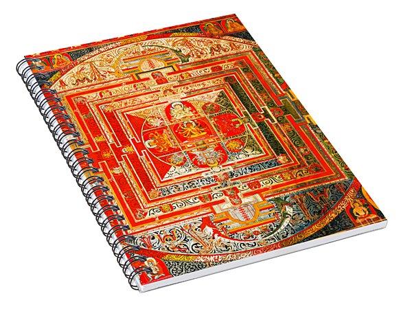Manjuvara Thangka Mandala Spiral Notebook