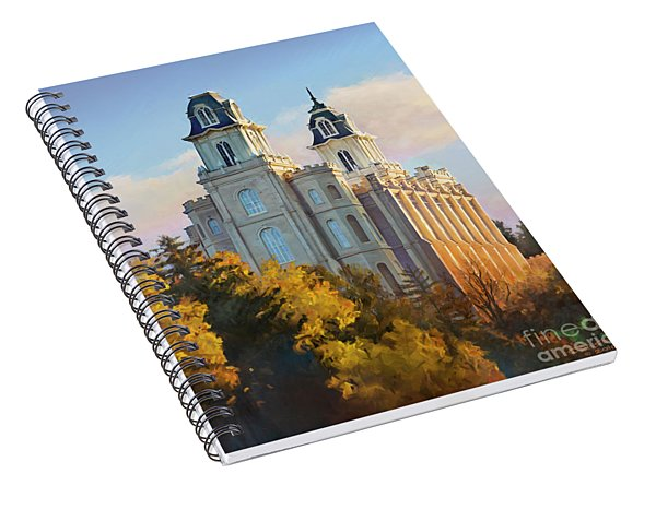 Manti Temple Tall Spiral Notebook