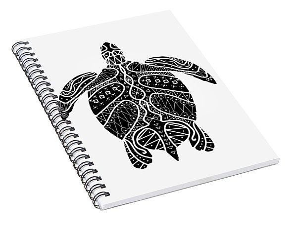 Maori Turtle Spiral Notebook