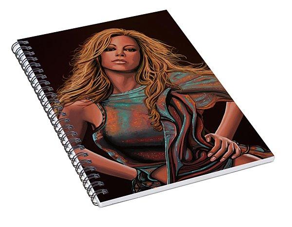 Mariah Carey Painting Spiral Notebook
