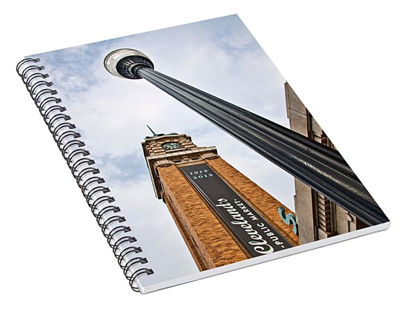 Market Clock Tower Spiral Notebook