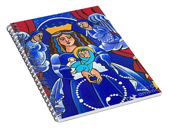 Mary, Queen Of Heaven - Mmque Spiral Notebook