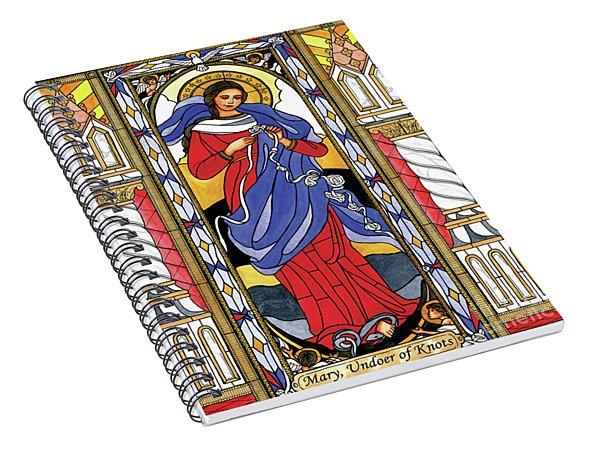 Mary, Undoer Of Knots Spiral Notebook