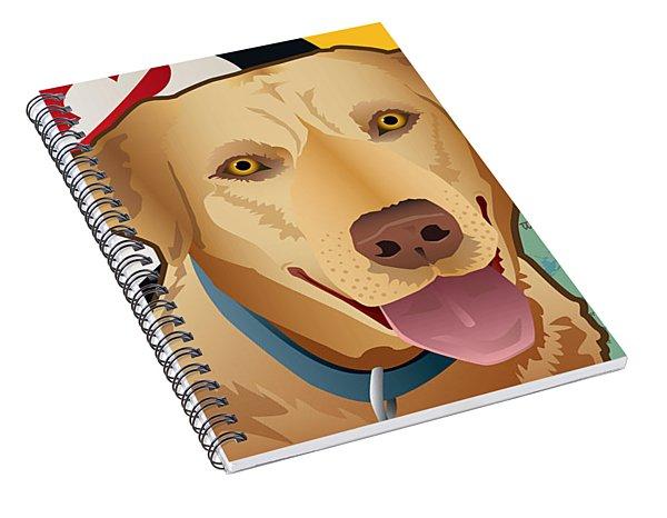 Maryland Yellow Lab Spiral Notebook