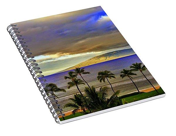 Maui Sunset At Hyatt Residence Club Spiral Notebook