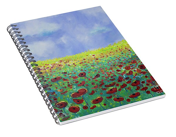 Meadow Of Poppies  Spiral Notebook