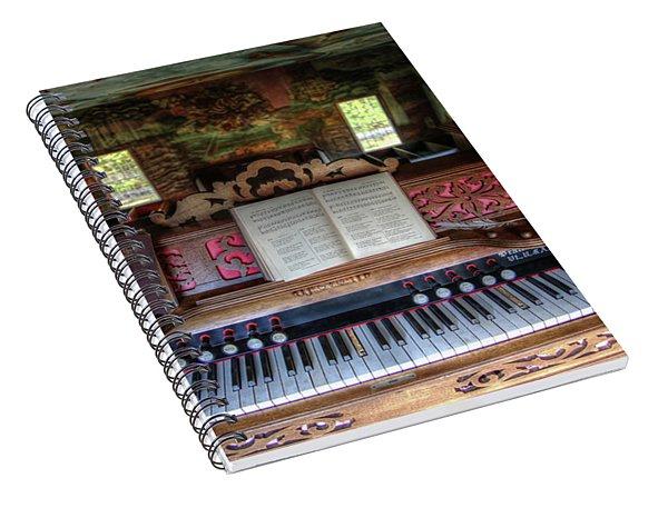 Meeting House Organ Spiral Notebook
