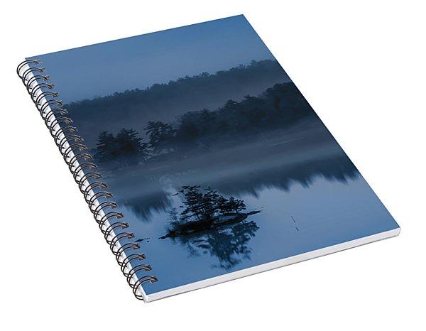 Melvin Bay Blues Spiral Notebook