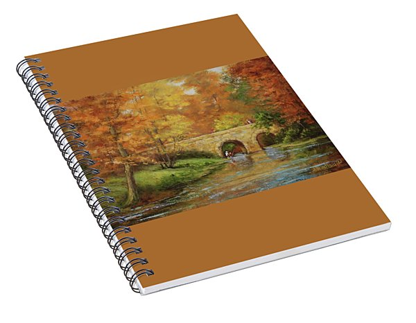 Memories At Stone Bridge Spiral Notebook