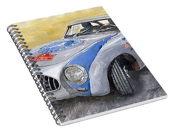 Mercedes Benz 300 Sl 1952 Carrera Panamericana Mexico  Spiral Notebook