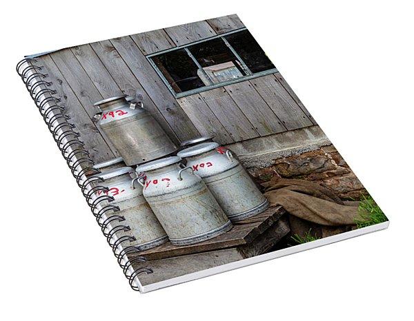 Milk Cans Spiral Notebook