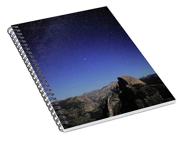 Milky Way Over Half Dome Spiral Notebook