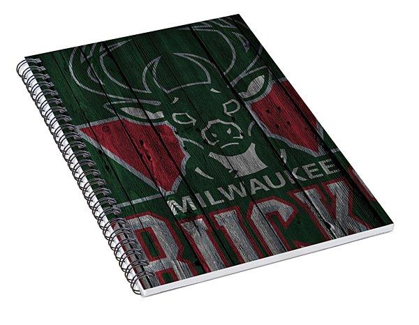 Milwaukee Bucks Wood Fence Spiral Notebook
