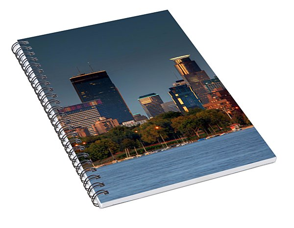 Minneapolis Skyline Photography Lake Calhoun Summer Evening Spiral Notebook
