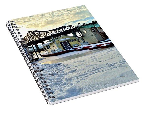 Mississippi River Boathouses Spiral Notebook