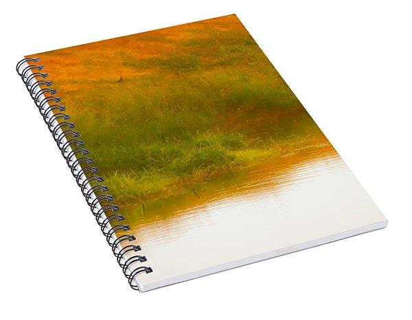 Misty Yellow Hue -lone Jacana Spiral Notebook