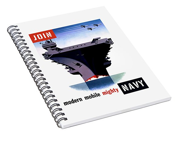 Modern Mobile Mighty Navy Spiral Notebook