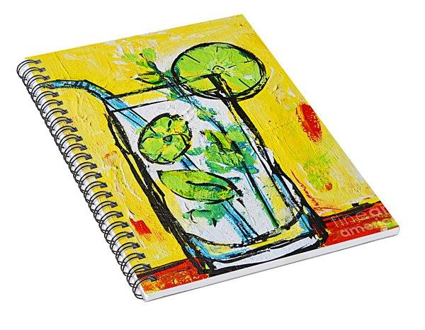 Mojito - Latin Tropical Drink Modern Art Spiral Notebook