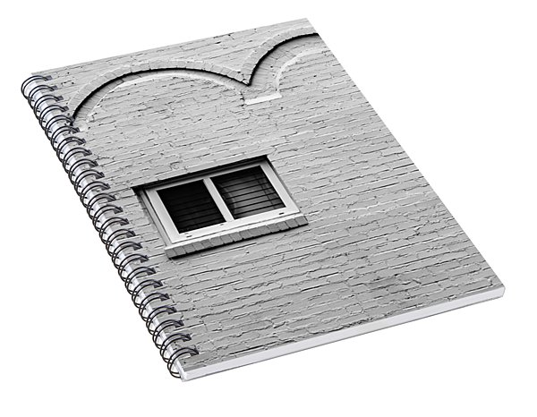 Monochrome Commonplace Spiral Notebook