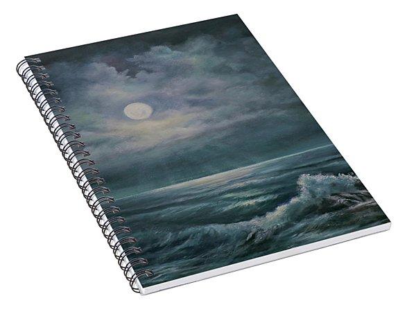 Moonlit Seascape Spiral Notebook