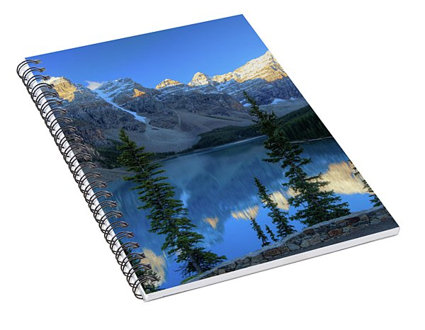 Moraine Lake Sunrise Blue Skies Spiral Notebook
